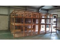 wood for wood burners/commercial shelvings