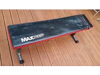 Max Strength Flat Weight Bench. Gym Barbell Dumbbell Lifting Workout Exercise Fitness
