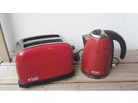 Russell Hobbs Red Kettle & Toaster Set
