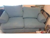 2 Seater Blue Sofa Bed