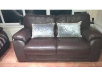 Sofas/Suite Brown Leather (2 of if required)