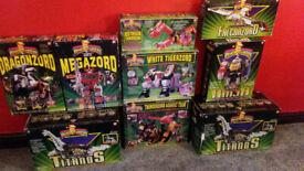 Huge collection of original Power Rangers Megazords - 90s vintage see details