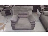 New ScS Curve Electric Recliner Fabric Armchair RRP £1,359 **CAN DELIVER**