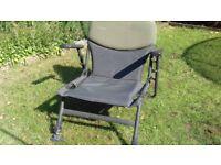 Trakker fishing chair - folds flat, extendable legs, good condition