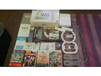 Nintendo wii console, games, accessories, cables & manuals