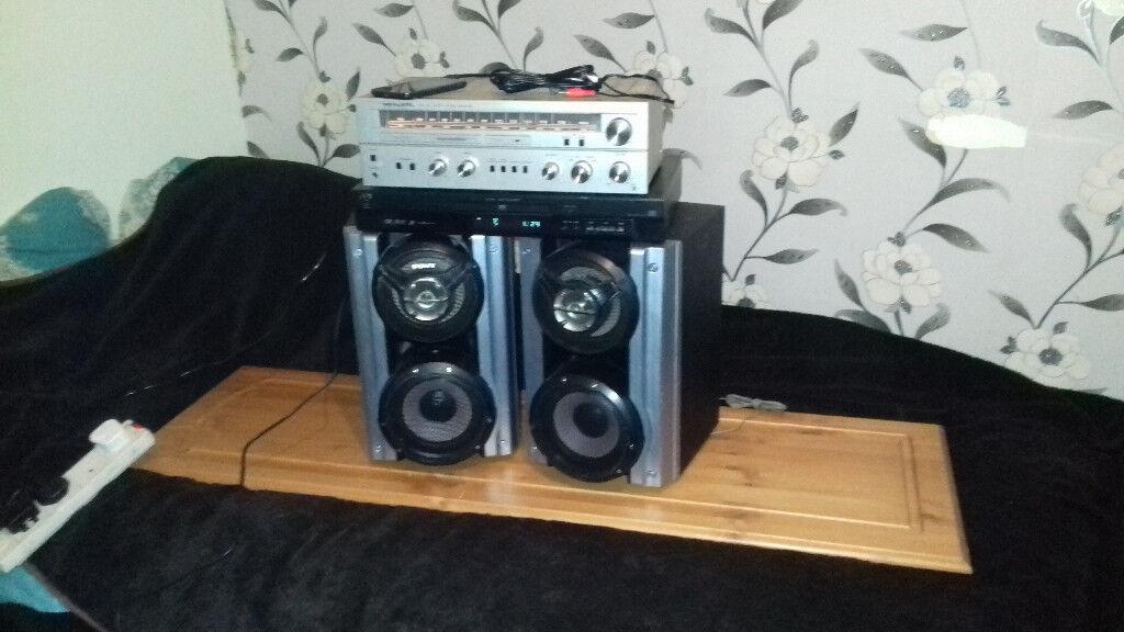 Speakers/Amp/Cd-Dvd Setup