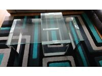 Beautiful and modern set of glass coffee tables from Furniture Village.