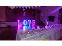 4 ft Light- Up 'LOVE' Letters - For Hire only £225