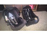 graco car seat and base £5