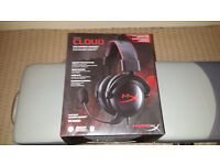 hyperx cloud headset perfect condition hardly used,bargain