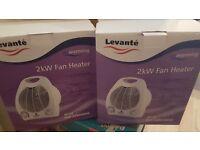 2 Levante 2kW fan heaters.