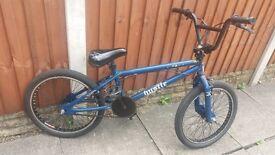 Hustle bmx bike blue