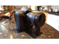 Nikon D7000 DSLR with Nikon 18-200mm ED DX VR f3.5-5.6 lens and battery grip