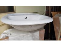 White ceramic bathroom sink