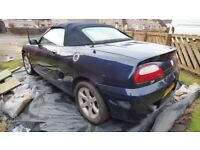 Rover MG TF for spares or repair.