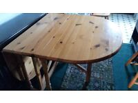 Pine Table and Four Chairs ( one chair is a carver chair)
