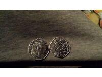 50p antique collector coins