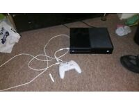 Xbox one console with 3 games