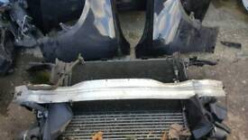 Audi a5 2.0 tdi complete front panel with radiators 08-15