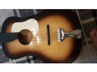 vintage kansas acoustic guitar 1950s made in czechoslovakia