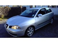 RARE SEAT IBIZA SPORT 2.0, VERY SMART IN HIGH GLOSS METALLIC SILVER WITH BLACK AND GREY SPORTS SEATS