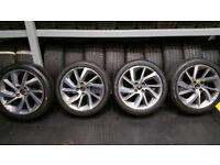 Citroen Genuine 17 alloy wheels + 4 x tyres 205 45 17