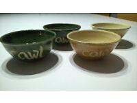 set of soup bowls Welsh cawl taster bowls
