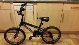 "Girls Apollo boogie bike 18"" frame age 5 - 8 stunt pegs"