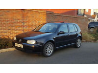 2002/52 VOLKSWAGEN GOLF 1.9 GT TDI PD (130 BHP) + 6 SPEED GEARBOX + PANTHER BLACK + 5 DOOR +
