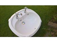 Vanity cloakroom basin.