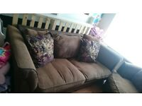 Large sofa and swivel chair