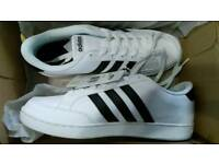 Adidas White/Black Trainers Brand New Size 9.5