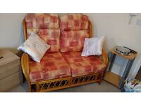 Two seats sofa, two arm chairs, display shelves, wardrobes, chest drawers, bathroom cabinet.