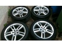 "18"" 5x112 genuine Audi alloys with 4 great tyres"