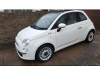 FIAT 500 1.2 Lounge, 2012, white, outstanding condition and low mileage
