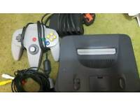 Nintendo 64 (n64) all leads 1 controller and 16 ges