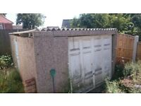 Free Double Concrete garage for sale- must collect