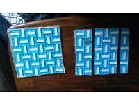 Blue high Quality Mix Metal Glass Mosaic Wall Tiles-Kitchen/Bathroom.