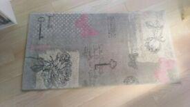 Grey RUG. Length 150 cm x Width 80 cm