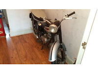 200 cc triumph tiger cub motorcycle 1961 unused 2 years dry stored nice patina but not mint