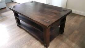 Coffee table solid moracoon wood