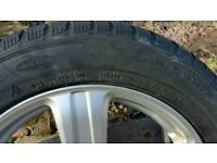 4 Off alloy wheels with winter tyres Audi A6