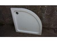 White Classic quadrant stone resin shower tray