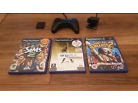 Playstation 2 Controller with Games & Accesso