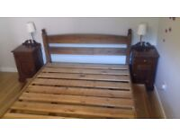 3 pieces Mahogany King Size Bedroom Furniture (with mattress and storage boxes)£300
