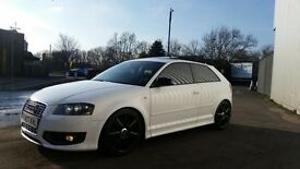 Audi S3 Quattro Ibis White sunroof heated suede seats tinted black alloys cheapest on net bargain
