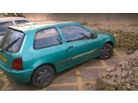 toyota starlet sportif 3dr ,blue,vgc,low mileage ,some history ,fully alarmed,sunroof,