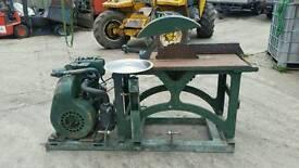 Saw bench diesel engine