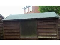 Shed 6x4 wooden .£30. Buyer distmantles and collects with van.THIS SATURDAY ONLY