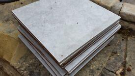 Light-Grey floor tiles 33cm x 33cm quantity of 14 tiles